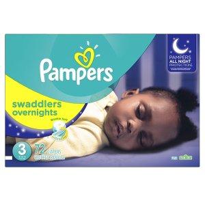 $25.97 (原价$29.97)Pampers Swaddlers 婴幼儿夜用尿不湿 3-6号