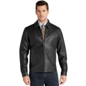 $99Signature Collection Traditional Fit Leather Jacket