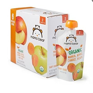 $11.97Mama Bear Organic Baby Food Pouch Mango Apple Carrot Peach 4 Ounce Pouch Pack of 12