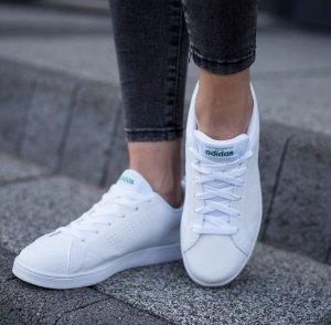 $30.06(原价$65)adidas VS Advantage Clean 男童小白鞋