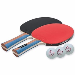 $20.64 Killerspin JETSET 2 Table Tennis Paddle Set with 3 Balls