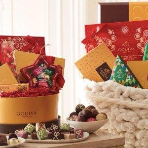 精选商品7折 + 满$25包邮Godiva 网络星期一特卖开始,50粒巧克力限量节日礼盒仅$24