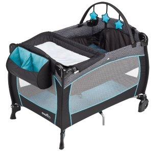 $89.99 (原价$149.99)Evenflo 便携式豪华婴幼儿游戏床6折