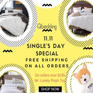 Free Shipping11.11 Single's Day Let's celebrate the Shopping Festival @ Qbedding