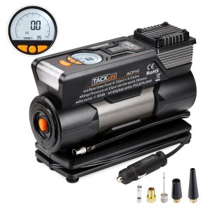 $27TACKLIFE Digital Tire Inflator, 12V Tire Pump with Larger Air Flow