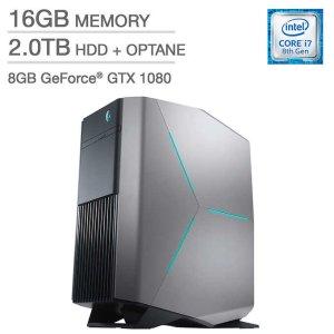 $1499.99Alienware Aurora游戏台式机 (i7-8700, GTX 1080, 16GB, 2TB混合盘)