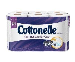 $4.74(原价$9.99)Cottonelle Ultra 12卷双层超舒适卫生纸