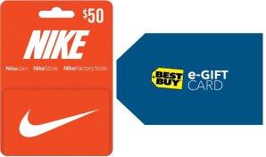 Free $10 Best Buy Gift CardNike $50 Gift Card (Digital Delivery) @ Best Buy