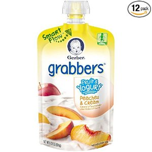 $11.37Gerber Graduates Grabbers, Fruit and Yogurt Peaches and Cream, 4.23 Ounce (Pack of 12)
