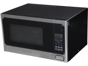 $44Black & Decker EM031MAB-X1 1.1 cu. ft. 1000W Microwave Oven, Stainless Steel/Black