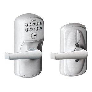 $79.99 (原价 $182.05)史低价:Schlage西勒奇 FE595 系列电子密码锁
