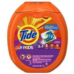 $15.97Tide PODS 3 in 1 HE Turbo Laundry Detergent Pacs, Spring Meadow Scent, 81 Count Tub