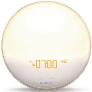 $85 Philips Wake-Up Light with Colored Sunrise Simulation