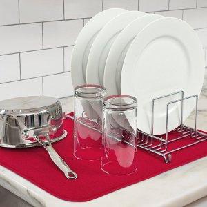 $2.97 Kitchen Basics Microfiber Dish Drying Mat, Red