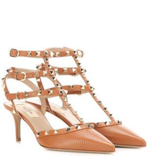 $752Valentino Garavani Rockstud leather kitten-heel pumps